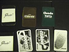 Set of replacement cards for CLUEDO: people, weapons or rooms various styles
