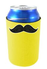 Coolie Junction Thick Mustache Funny Can Coolie, Neoprene Collapsible