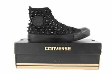 Studded  AllStar Chuck Taylor High top black shoes sneakers with black studs
