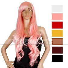 REELVA SEXY LONG WAVY WIGS LADIES FULL HEAD WIGS FANCY DRESS WIGS