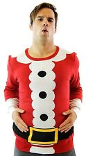 Adult Jumper Ugly Christmas Sweater Holiday Tacky Santa Claus Costume Suit Top