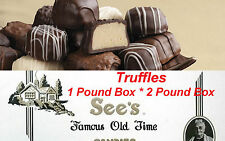 1 Pound 2 Pound See's Candies Truffles Chocolate Candy Pick Your Flavor + Wrap