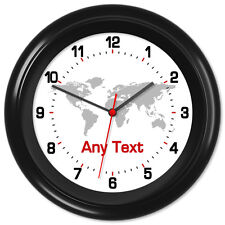 Ham Radio Clock Call Sign City Country 12 Hour World Time Zone Office - Any text
