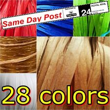 Raffia Paper Ribbon Many Colours Lenghts Red Gold Green Decorating Gifts Crafts