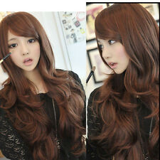 New Style Womens Girls Sexy Long Fashion Curly Full Wavy Hair Wig 3 Colors