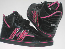 New PASTRY STRATA LEOPARD Hi Top Black/Pink Trainers £ 54.99