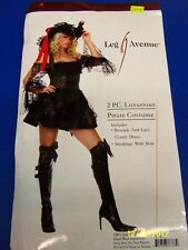 2 pc. Luxurious Pirate Caribbean Black Leg Avenue Halloween Sexy Adult Costume