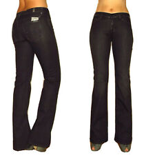 $198 Seven 7 For All Mankind Bootcut Black Jeans Crystal Mid-Rise X-Long 24-29
