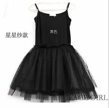 New Korea Charming Style Womens High Quality Double Layer yarn Lined Tank Dress