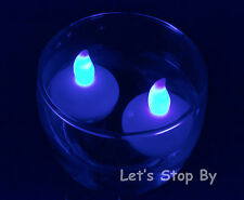 12 Flameless Floating LED tealight Candle Battery operated tea lights - 8 colors