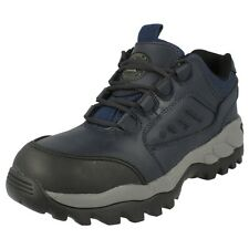 UNISEX TOTEC SPORT LEATHER  STEEL TOE CAP SAFETY SHOE IN NAVY/BLUE (2982C)