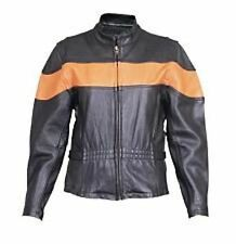 A2171 Ladies Vented jacket two tone black and orange with full sleeve zipout lin
