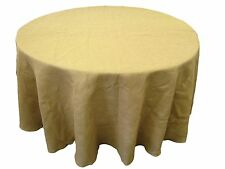 """Burlap Tablecloth 108"""" Round. Made in USA. Exclusively By LA Linen"""