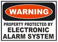 Electronic Alarm System Home Work Safety Business Sign Decal Sticker D242