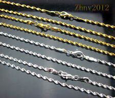 Lots 10/20pcs Gold/Silver plated Brass Wave chain Necklace w/Lobster Clasp.16""