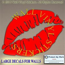 Lips Wall  Stickers Sexy  Lady Woman Face People Decal Transfers Girl Eyes Art