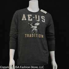 American Eagle Outfitters Men's Long Sleeve T-Shirt 3 Dark Gray NWT