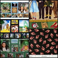 Wizard of Oz Fabric Panels Characters Follow Yellow Brick Road Assorted Dorothy