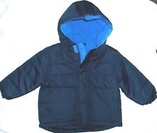 NWT Boys sz 18,24 mo,3T Solid Everyday Hooded Velcro Zip-Up Cold Weather Coats!