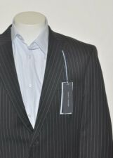 TOMMY HILFIGER BLACK STRIPED WORSTED WOOL SPORTS COAT