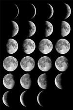 MOON PHASES GLOSSY POSTER PICTURE PHOTO full half crescent space stars cool 1263