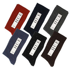CHOOSE x1 HUE Women Diabetic Flat Cuff Dots Cotton Socks BLK Navy Brown Gray Red