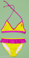 NWT US Polo Assn  Bikini 2 Piece Bathing Suit Swim Yellow Girls Size 14, 16