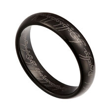 Black Tungsten Carbide 6mm Lord Of The Rings Band Plain Size 6-12 TG035