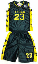 BOYS BASKETBALL VEST TOP & SHORTS SET. GREEN 2-12years BNWT. #TEXAS