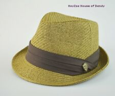 Mens Summer Cool Casual Paper Fedora Hat Khaki/w Brown Band S/M, L/XL Available