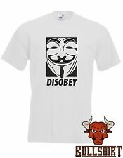 Disobey T Shirt - Anonymous anon vendetta hacker obey internet hack mask diss