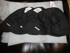 NWT Lot of 3 Comeaux Caps Welding/Welders Hats Solid Black Reversible 2000 Sized
