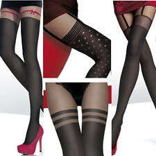 OPAQUE SEXY PANTYHOSE TIGHTS FIORE COLLECTION IMITATING STOCKINGS SIZE S M L