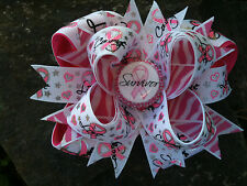 BREAST CANCER AWARENESS HOPE LOVE COURAGE BLING BOTTLECAP HAIRBOW WITH OPTIONS