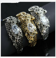 BOUTIQUE COLLECTION LEOPARD WILDCAT CHUNKY CRYSTAL BANGLE 070609