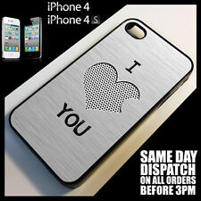 Cover for iPhone 4/4S/4G I Love You Valentine Gift For Her Heart Present Case*v1