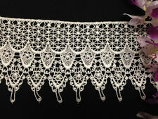 4 inch Scalloped Venise Lace Trim, 2 Yards