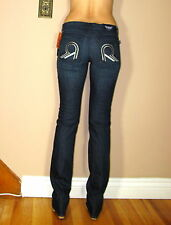 $278 ORIGINAL Rock&Republic Stella Straight Leg Jeans Dark Themis Studded Rs 29