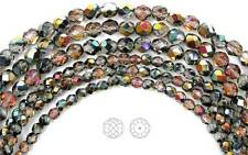 "Czech Fire Polished Round Faceted Glass Beads Crystal Santander coated 16""strand"