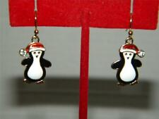 Avon Christmas Holiday Dangle Earrings Penguin or Stockings  New Item