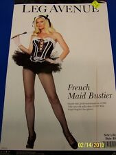 French Maid Bustier Black Top Leg Avenue Dress Up Sexy Adult Costume Accessory