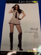 4 pc. Sheriff Police Officer Cop Brown Leg Avenue Halloween Sexy Adult Costume