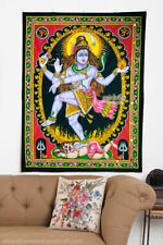 shiva dance natraj nataraja sequin wall hanging cotton hindu tapestry indian art