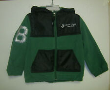 NEW W/T BEVERLY HILLS POLO BOYS GREEN & BLACK HOODED JACKET 2T, 3T