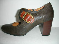 Clarks Town Club Heels Grey Leather NEW SOLD OUT ONLINE FOR $110!!!