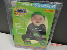 NWT Infant 3 Piece Monster Frankenstein Themed Halloween Outfit New Unused