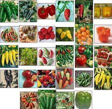 HOT*BEll*SWEET*GHOST*THAI*CAYENNE*HEIRLOOM Non-GMO PEPPER SEEDS LOT 28 types