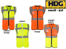 High Viz Safety Reflective Executive Safety Vests. Hi Vis Protective Work Wear!