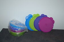 TUPPERWARE IMPRESSIONS 4 pc 2 cup MICROWAVE safe CEREAL BOWL SET bowls