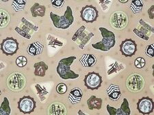 CRIB/TODDLER SHEET OR 2pc. SET- COTTON - AIR CONTROL - 2ND SQUADRON - BADGES